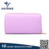 Fashionable mltifunction genuine leather zipper wallet
