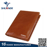 Brown multi-function short bifold leather Wallet