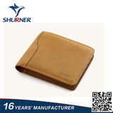 High quality brown bifold simple women wallet